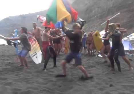 Harlem Shakes La Marea Surf School 2013