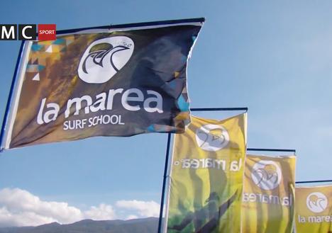 Reportaje de La Marea Surf School en programa de TV